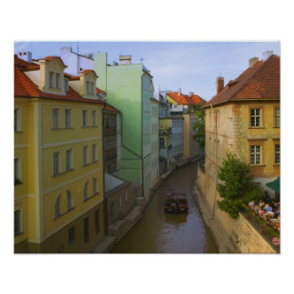 Historical buildings with canal, Prague, Czech Poster