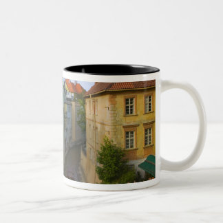 Historical buildings with canal, Prague, Czech Two-Tone Coffee Mug