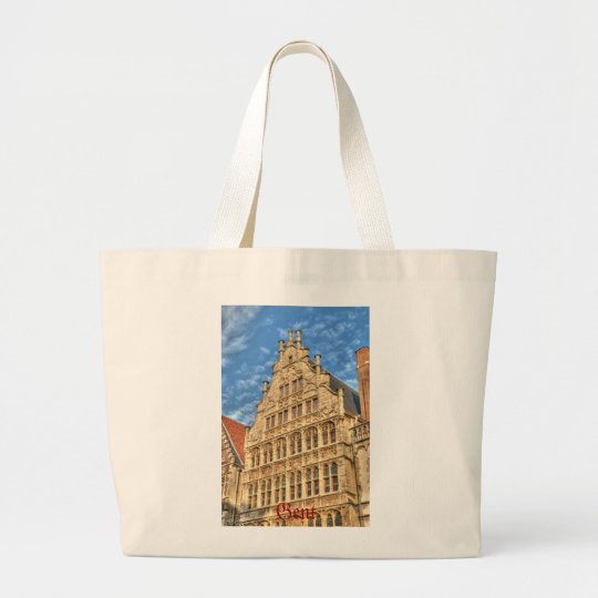 Historical centre of Gent, Belgium Large Tote Bag