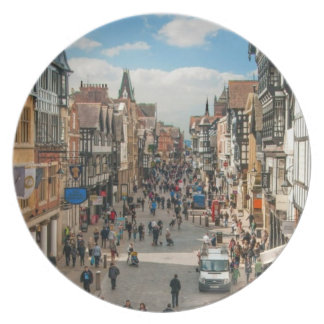 Historical City of Chester England United Kingdom Plate