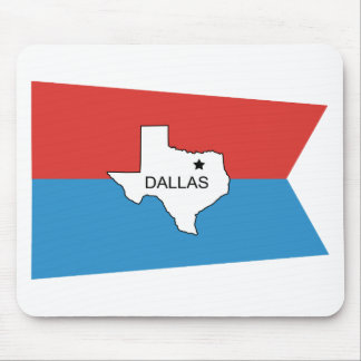 Historical Dallas Flag Mouse Pad