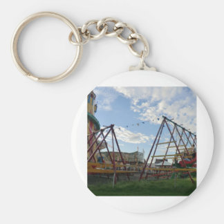 Historical Fairground at the Black Country Museum Basic Round Button Key Ring
