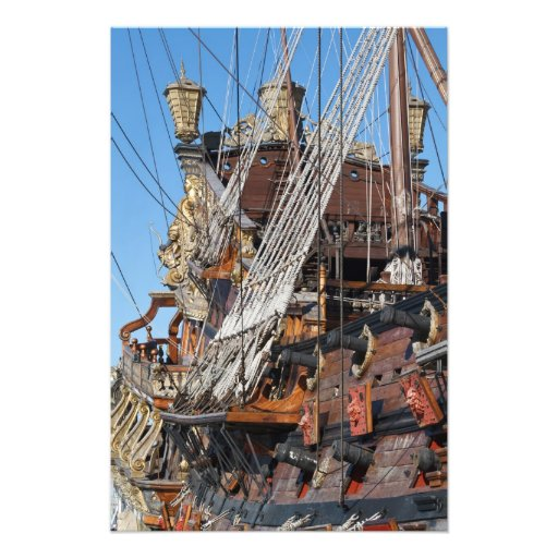 historical galleon photo art