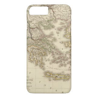 Historical Greece, Paris atlas map iPhone 8 Plus/7 Plus Case