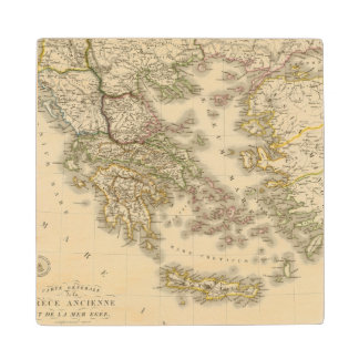 Historical Greece, Paris atlas map Wood Coaster