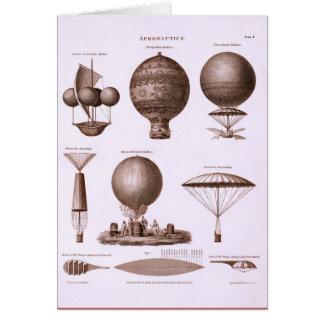 Historical Hot Air Balloon Designs Greeting Card