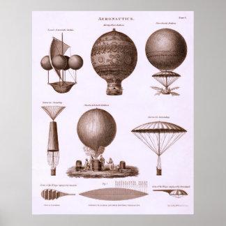 Historical Hot Air Balloon Designs Poster