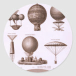 Historical Hot Air Balloon Designs Stickers