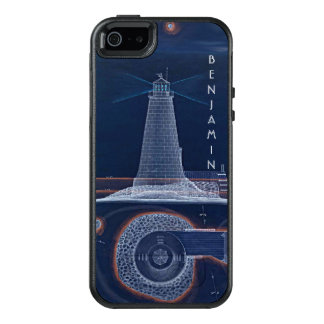 Historical Lighthouse Blueprint Diagram OtterBox iPhone 5/5s/SE Case