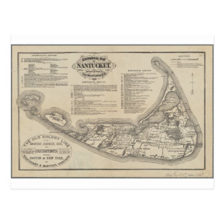 Historical Map of Nantucket Postcard