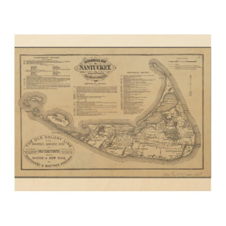 Historical Map of Nantucket Wall Art