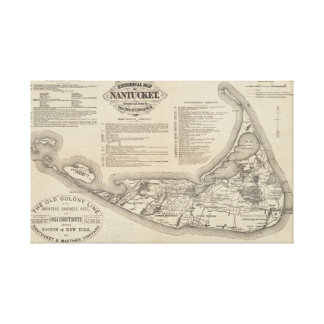 Historical Map of Nantucket Wall Art