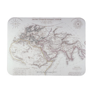 Historical Map of the Known World Rectangular Photo Magnet