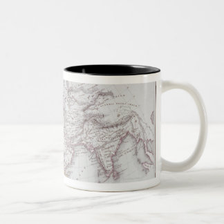 Historical Map of the Known World Two-Tone Coffee Mug