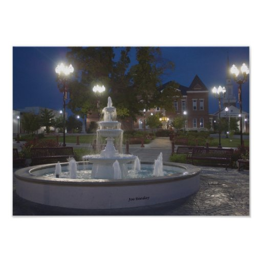 Historical McMinnville Tennessee Before Sunrise Poster