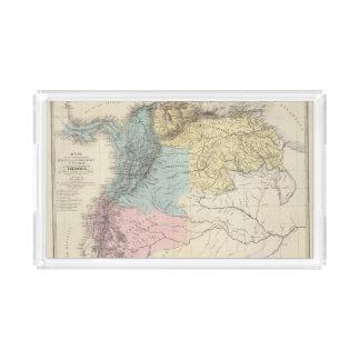 Historical Military Maps of Venezuela Acrylic Tray