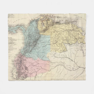 Historical Military Maps of Venezuela Fleece Blanket