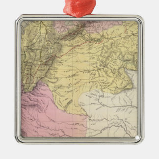 Historical Military Maps of Venezuela Silver-Colored Square Decoration