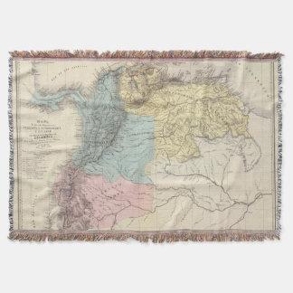 Historical Military Maps of Venezuela Throw Blanket