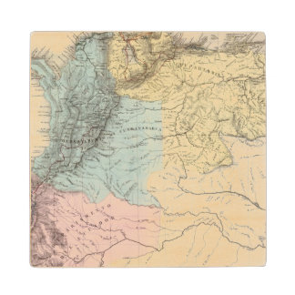 Historical Military Maps of Venezuela Wood Coaster