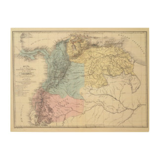 Historical Military Maps of Venezuela Wood Wall Decor