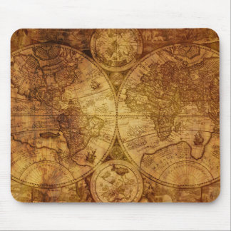 Historical Old Antique World Map Mouse Mat