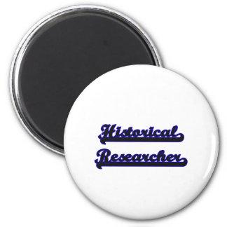 Historical Researcher Classic Job Design 6 Cm Round Magnet