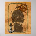 Historical Sailing Ship Poster