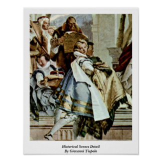 Historical Scenes Detail By Giovanni Tiepolo Print