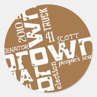 Historical Scott Brown Round Stickers