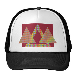 Historical Style PYRAMID Triangle Energy Border Trucker Hats
