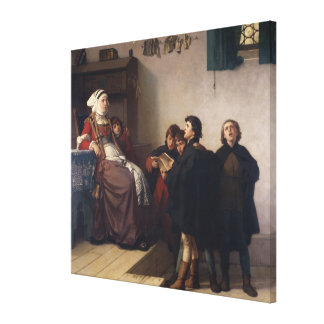 Historical theme, 1872 canvas print
