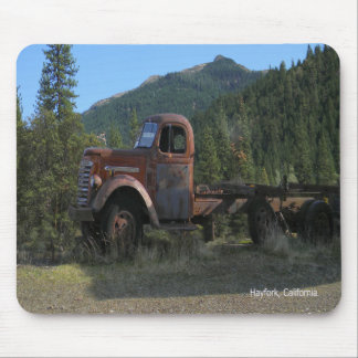 Historical truck in the mountains... mouse mat