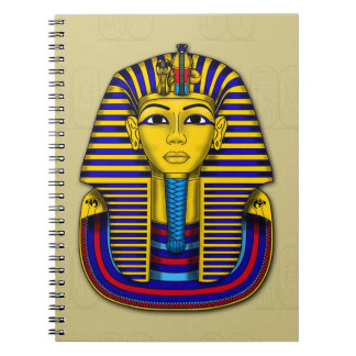 Historical Tutankhamun Funerary Mask Notebook