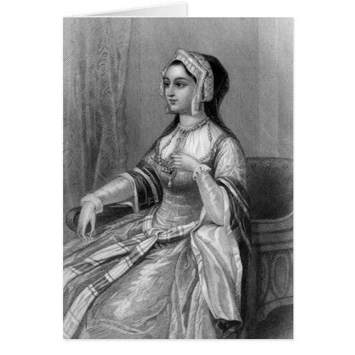 Historical Women - Anne Boleyn Greeting Cards