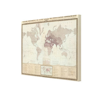 Historical World Map 2 Canvas Print