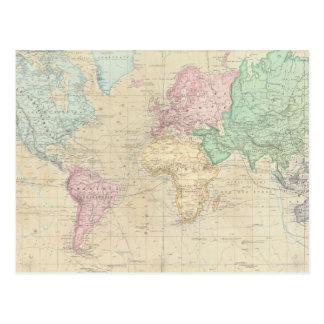 Historical World Map 2 Postcard