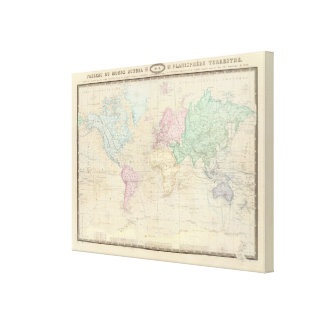 Historical World Map 3 Canvas Print