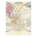 Historical World Map 3 Postcard