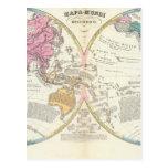 Historical World Map 3 Postcard