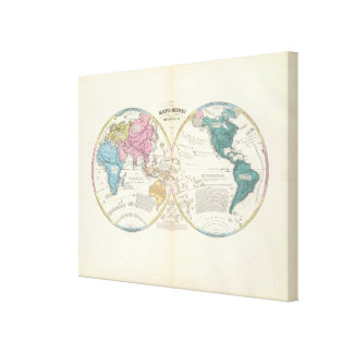Historical World Map Canvas Print