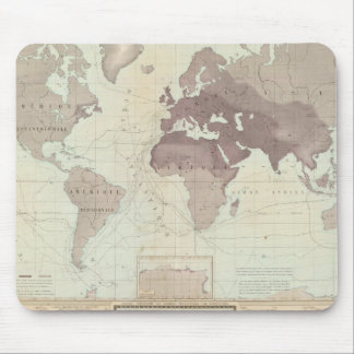 Historical World Map Mouse Pad