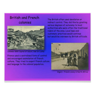 History, 19th century colonies, British and French Poster