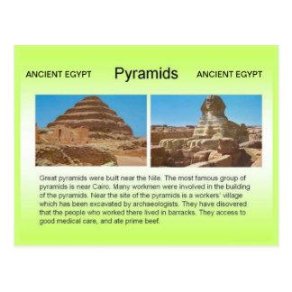 History, Ancient Egypt, Pyramids Postcard