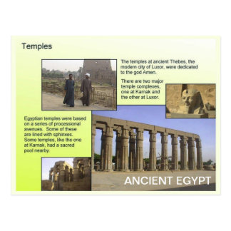 History, Ancient Egypt, Temples Postcard