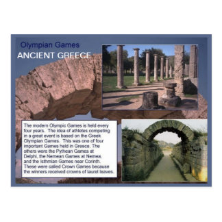 History, Ancient Greece, Olympian Games Postcard