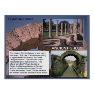 History, Ancient Greece, Olympian Games Poster