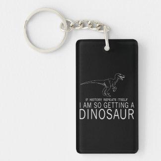 History and Dinosaurs Key Ring