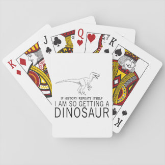 History and Dinosaurs Playing Cards