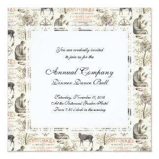 History and Science - Quest for Knowledge 13 Cm X 13 Cm Square Invitation Card
